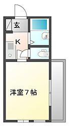 シンス91ハウス[1階]の間取り