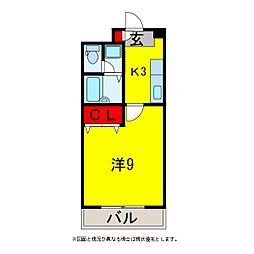グレース八木3[5階]の間取り
