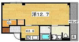 M's court 1階1Kの間取り