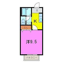 コンフォルト桃山N棟[202号室]の間取り