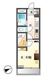 レオパレス常磐[2階]の間取り