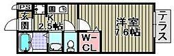 セジュール井原の里 B棟[1階]の間取り