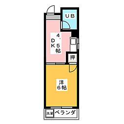 菱田ビル[4階]の間取り