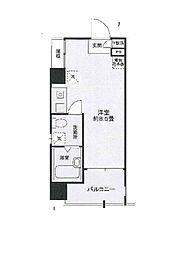 コンクリート打ちっぱなしデザイン エテルノ荻窪[8階号室]の間取り