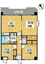 戸塚ウエスト・ウッド[4階]の間取り
