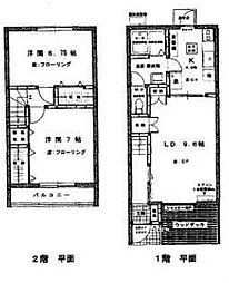 [テラスハウス] 千葉県流山市南流山8丁目 の賃貸【/】の間取り