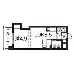北海道札幌市中央区南十三条西6丁目の賃貸マンションの間取り