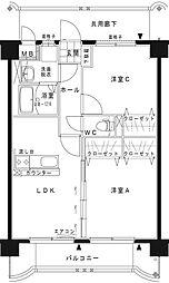 GRAND DE OSHIMA Ⅰ[3階]の間取り