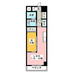 サロンサービスサイトミズノ[4階]の間取り