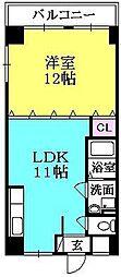 クレッセントイマヅ[205号室]の間取り