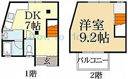 松ヶ崎タウンハウス祥[2階]の間取り
