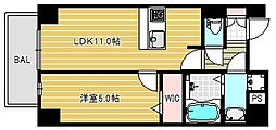LAZO上汐[4階]の間取り