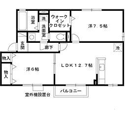 ブリックガーデン[2階]の間取り