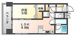 フラワーコーポ六本松[4階]の間取り