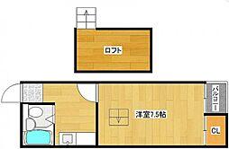 シャルム西加賀屋[4階]の間取り