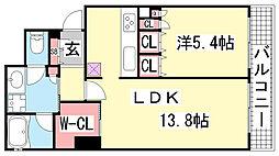 ジークレフ神戸元町[3階]の間取り
