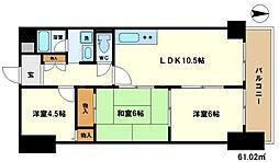 おおきに大阪天満サニーアパートメント(旧称:サムティプリンス[11階]の間取り