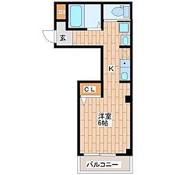 大阪府大阪市生野区巽東2丁目の賃貸アパートの間取り