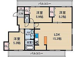 ステラガーデン茨木[4階]の間取り