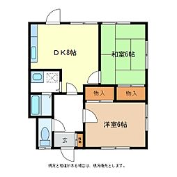 宮工荘[2階]の間取り