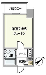 東京都台東区蔵前2丁目の賃貸マンションの間取り