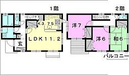 [一戸建] 愛媛県松山市石手3丁目 の賃貸【/】の間取り