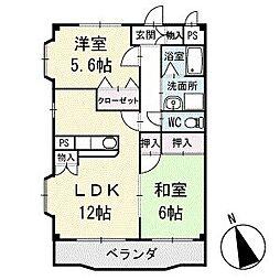 アメニティ大樹寺 壱号館 3階[303号室]の間取り