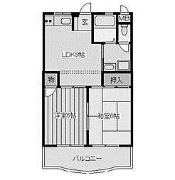 メルベーユオークラ[2階]の間取り