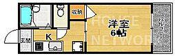 京都府京都市上京区中筋通石薬師下る新夷町の賃貸アパートの間取り