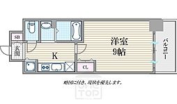 ララプレイス大阪West Prime[1404号室]の間取り