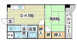 コーポラス神子岡[401号室]の間取り