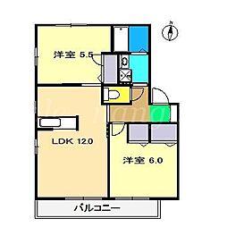 メゾンボヌールII[2階]の間取り