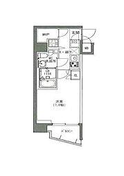 東京メトロ副都心線 雑司が谷駅 徒歩7分の賃貸マンション 2階1Kの間取り