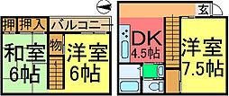 [一戸建] 東京都江戸川区松本1丁目 の賃貸【/】の間取り