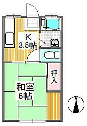 東京都練馬区東大泉5丁目の賃貸アパートの間取り