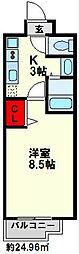 カメリアライジング21麦野[8階]の間取り