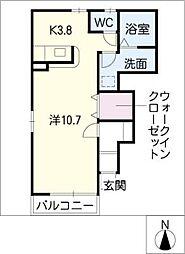 ベルメゾンA[1階]の間取り