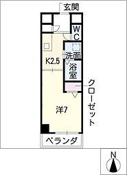 サンシティ畑江通[3階]の間取り