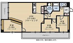 福岡県福岡市早良区城西3丁目の賃貸マンションの間取り