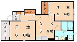 ボニートパル[1階]の間取り