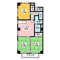 エクセル山田[1階]の間取り