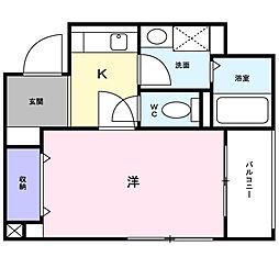 ドゥジエ−ム シマ[2階]の間取り
