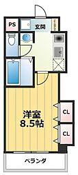 M'プラザ高井田[9階]の間取り