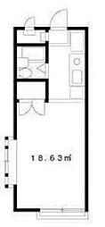 ケンフラッツ[2階]の間取り