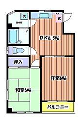 マンションエスポワール[2階]の間取り