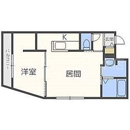 仮)ラヴェーラ福住[2階]の間取り