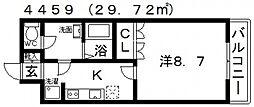 ルミナス松山[106号室号室]の間取り