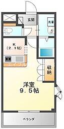 岡山県倉敷市羽島丁目なしの賃貸マンションの間取り