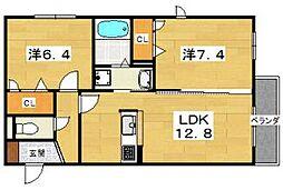 シャーメゾン ラフィーネ[2階]の間取り