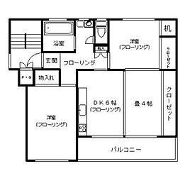 相武台団地1604号棟[2階]の間取り